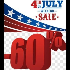 HAPPY 4th! 60% OFF EVERYTHING! 2 OR MORE ITEMS